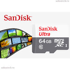 Thẻ nhớ Micro SDHC Sandisk 64GB Ultra class 10 80Mb (class 10) Ultra bảo  hành 5 năm