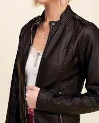 hollister women faux leather moto jackets black canada