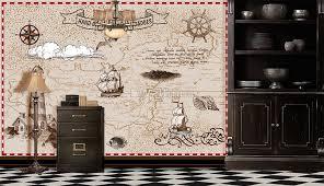 Nautical Chart Wall Mural Nautical Maps With Old Sailboat Wallpaper Mural