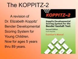 koppitz developmental scoring system for the bender gestalt test