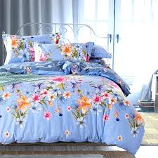 bright color comforter country style fl print bedding set queen king size bed sheets duvet cover