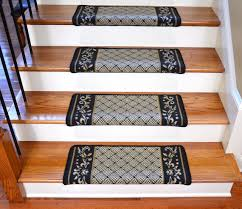 dean modern diy bullnose wraparound non skid carpet stair treads black scroll border dean stair treads