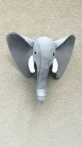 stuffed animal heads for nursery elephant felt animal head wall decor baby room safari decor nursery