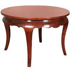 art deco round mahogany coffee table