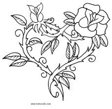 Small Picture Free Coloring Pages Of Roses And Heart Rose Coloring Sheet