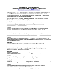 Writing Resume Objectives Resumes Objectives Samples No Objection Certificate Template 22