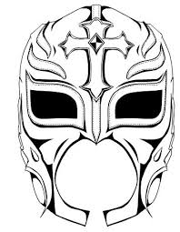 Small Picture rey mysterio mask coloring Ideas Pinterest Masking Wwe