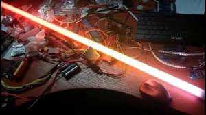 lightsaber with double ws2812 led strips