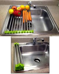 Drain Racks For Kitchen Sinks Amazoncom Folding Drain Rack Stainless Steel Washing Station