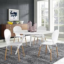 modway furniture lippa 54 inch round artificial marble dining table with tripod base in white