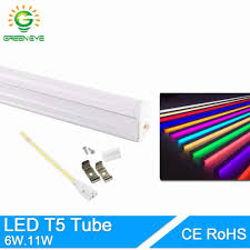 Led Tube Light Supplier Greeneye 11w 6w Led T5 Tube Light 220v 60cm 30cm T5 Lamp Led Wall Lamp Warm Cold White Red Green Blue Led Fluorescent Light T5