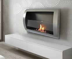 wall mounted ventless fireplace