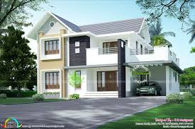 Neat House Designs Simple Sloping Roof 2156 Sq Ft Stuff To Buy House Design
