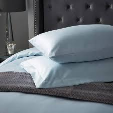 hotel living 1000tc oxford pillowcase duck egg