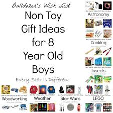 Non Toy Gift Ideas for 8 Year Old Boys. This post contains affiliate links. Boys - Every Star Is Different