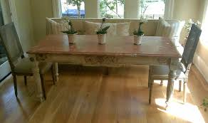custom built antique dining table
