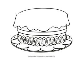 Small Picture Birthday Cake Colouring Page