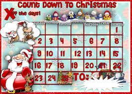 Free Printable Christmas Countdown Calendar » Calendar Template 2018