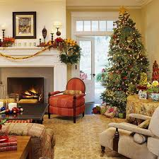 Xmas Decoration For Living Room Decorations Country House Living Room Christmas Decoration