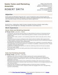 Sales And Marketing Resume Objective Sales And Marketing Associate Resume Samples Qwikresume
