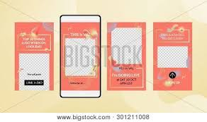 Mobile Stories Coral Vector Photo Free Trial Bigstock