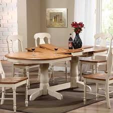 Rubberwood Kitchen Table Solid Oval Butterfly Extending Dining Table Traditional Farmhouse