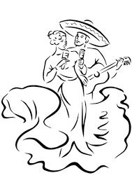 Cinco De Mayo Traditionele Dansen Kleurplaat Gratis Kleurplaten