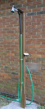Outdoor Shower How To Make An Outdoor Shower Using A Simple Garden Hose Homejelly