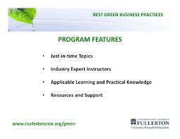 csuf webinar best green business practices presentation best
