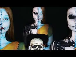 nightmare before jack and sally makeup tutorial you