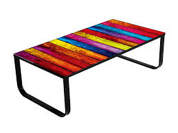 funky wood furniture. Funky-coffee-tables-colorful-wood-planks-table-top- Funky Wood Furniture A