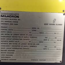 cincinnati milacron 165 ton injection molding machine vt165 5 used image gallery click to view larger image