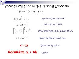 solving equations with fractional exponents worksheet jennarocca equations with rational exponents jennarocca