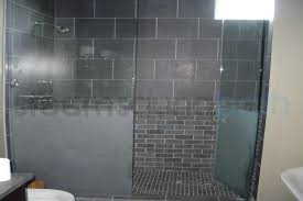 frameless clear and frosted glass