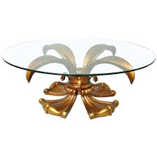gold round coffee table vintage regency gold lotus lily round coffee table round gold coffee table