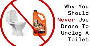 use drano to unclog a toilet