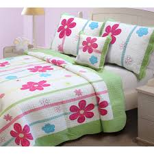 modern kids spring floral bedding pct cotton material white