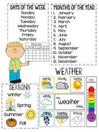 Calendar Anchor Chart Worksheets Teaching Resources Tpt