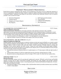 Management Resume Real Estate Property Management Resume Sample Professional 32