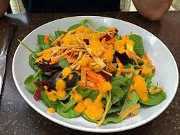 mad hatter house salad with ginger dressing