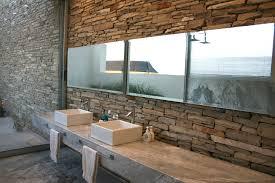 rustic modern bathroom vanities. Lovely Rustic Modern Bathroom Idea With Captivating Stone Wall Design Vanities R