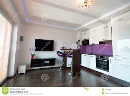 Kitchen And Living Room Modern Kitchen With Living Room Stock Photo Image 26076950