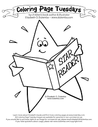 Small Picture dulemba Coloring Page Tuesday Star Reader