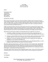 Child Care Traineeship Cover Letter Sample