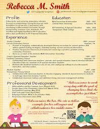 Creative Teacher Resume Templates Free Professional Free Creative Resume Templates For Teachers Creative 1
