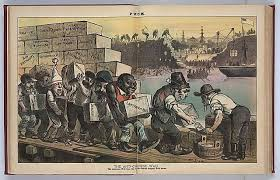 in search of scapegoats exclusion past and present san political cartoon from the puck in 1882 caption reads ldquothe anti chinese