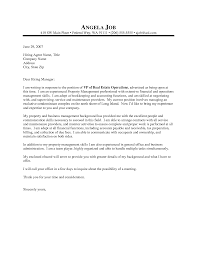 Property Management Cover Letter Template For Examples Managers