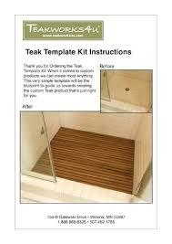 wooden shower mat custom teak template kit ireland