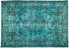 teal overdyed rug 7 x 5 feet cm 00x700jpg