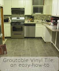 Kitchen Floors Vinyl Our Old Abode Kitchen Floor Groutable Vinyl Tile